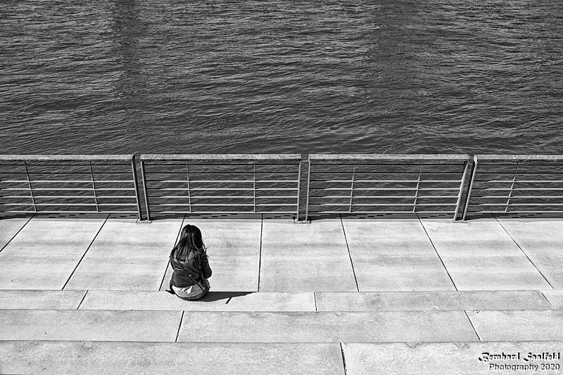 Alone at River Rhine - Bernhard Saalfeld